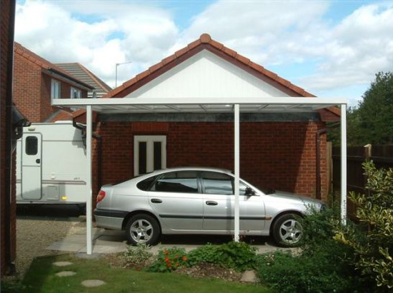 A typical carport installation